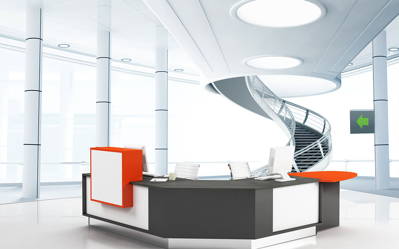 frem moda reception desk rapid office