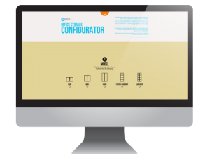 office chair configurator on screen