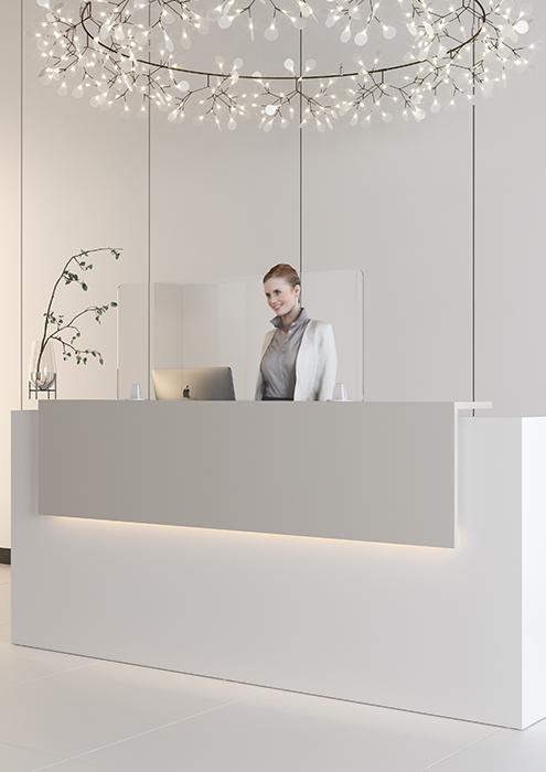Covid Perspex Reception Screen
